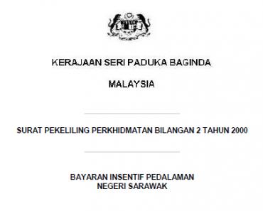 Pekeliling Bayaran Insentif Pedalaman Negeri Sabah