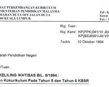 Pelaksaan Kokurikulum Pada Tahun 5 dan Tahum 6 KBSR