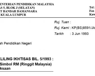 Penggunaan Simbol RM (Ringgit Malaysia) Dalam Peperiksaan