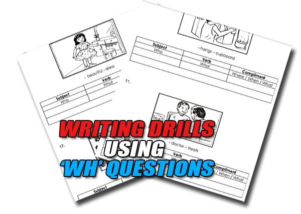 dril latihan bagi modul soalan bahasa inggeris guna wh questions