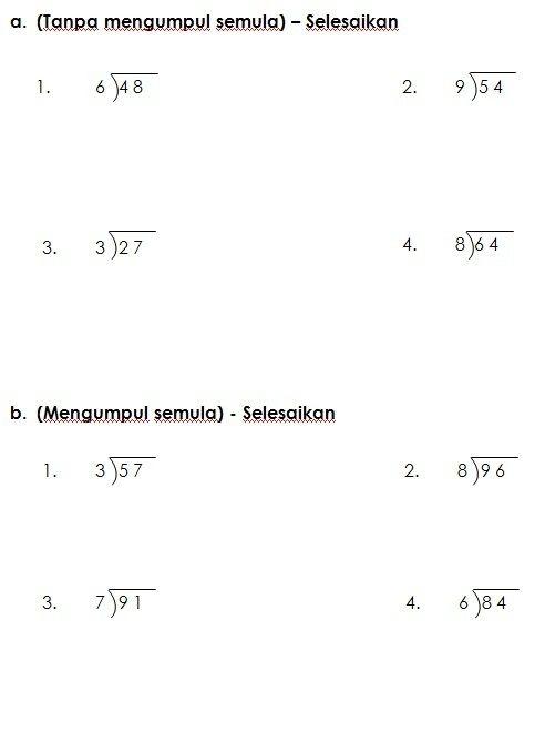 Nota Padat Matematik Tahun 3 Yang Sangat Power Latihan Bahagi Matematik Kssr Tahun 3 Worksheet Pinterest Of Senarai Nota Padat Matematik Tahun 3 Yang Terbaik Untuk Guru-guru Cetakkan