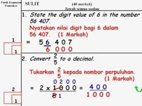 Nota Padat Matematik Upsr Yang Sangat Baik Matematik Upsr Contoh soalan Upsr Youtube Of Senarai Nota Padat Matematik Upsr Yang Penting Untuk Guru-guru Perolehi