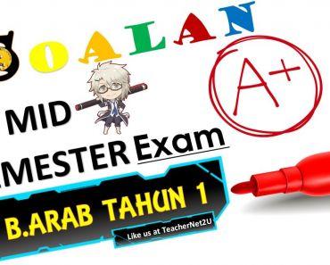 Soalan Pentaksiran Awal Tahun Bahasa Arab Tahun 1 Berguna B Arab Tahun 1 Ujian Pertengahan Tahun 2017 format Kssr Teachernet2u