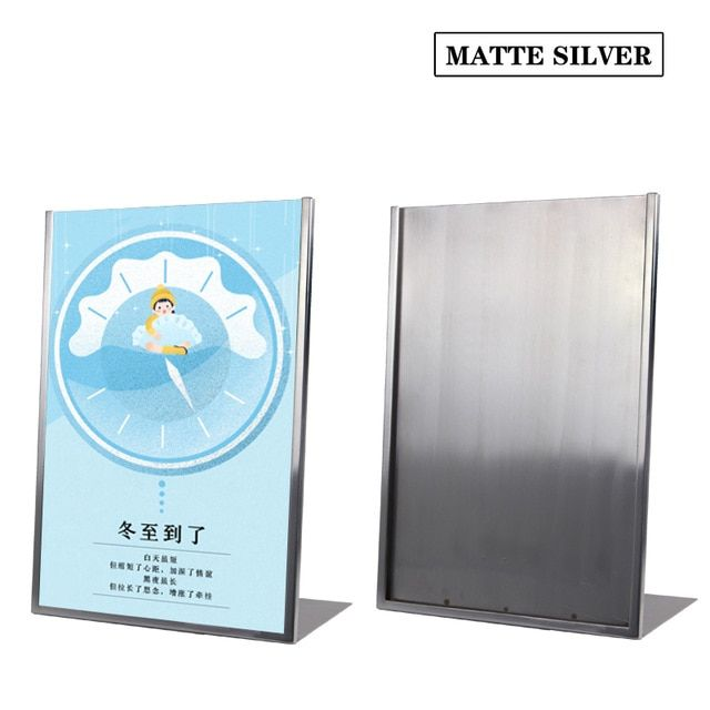 linliangmuyu metal a3 pop advertising poster desktop display rack for menu sign poster display stand frame