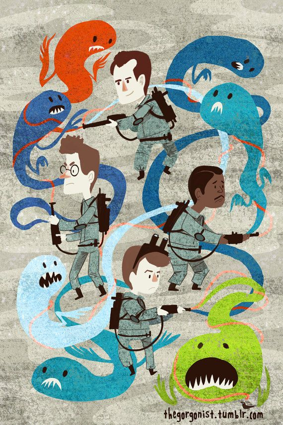 afraid of no ghost 12x18 art poster by thegorgonist on etsy 20 00