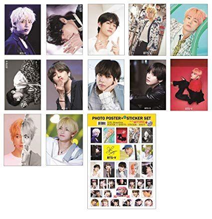 idolpark bts group solo 2019 new 12 posters 1 sticker set