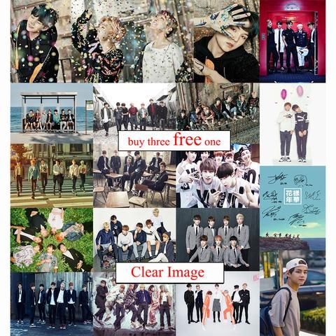 bts posters clear image wall stickers home decoration high quality prints rm jimin jin coated paper