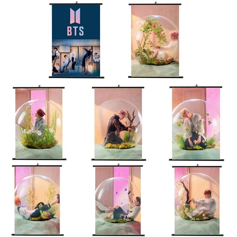 2018 new version bts bangtan boys ablum love yourself answer poster bts fans collection gift stationery