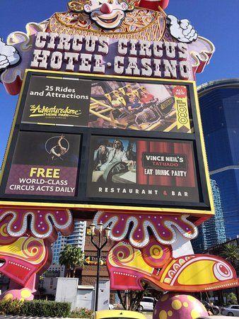 circus circus midway cartel de indicacion