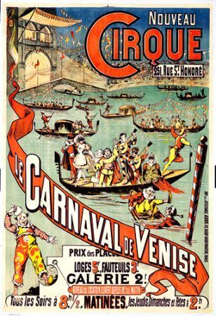 old fashioned carnival poster