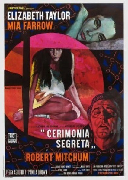Circus Poster Penting Secret Ceremony Italian 4 Folio Movie Posters Limited Runs