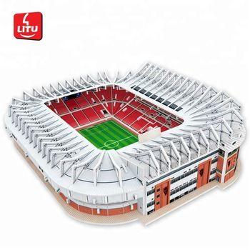 3d sepak bola anak laki laki eropa souvenir sepak bola model mainan stadion sepak bola