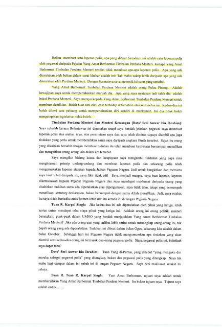 karpal tahu bahawa anwar ibrahim seorang peliwat lebih awal dari khalid jefri yang menulis buku 50 dalil