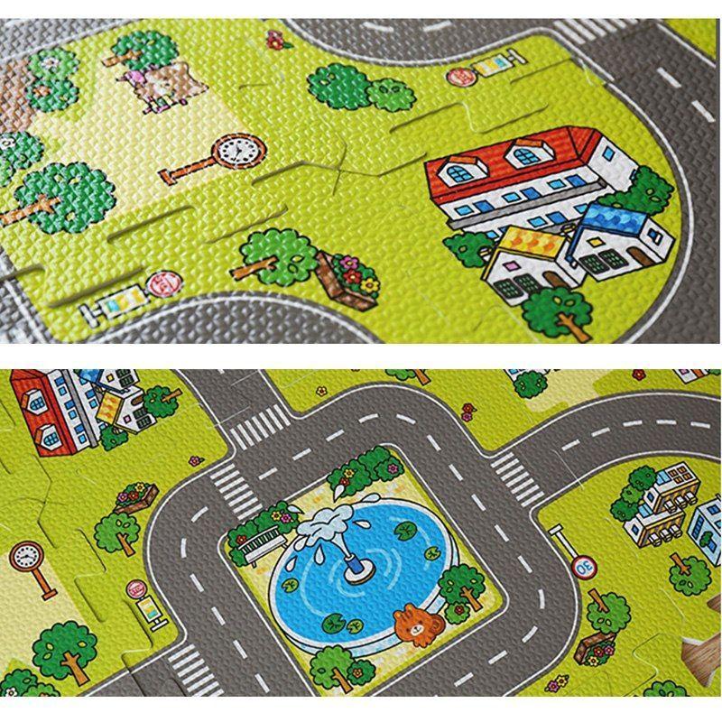 rfwcak mainan untuk anak anak rugs teka teki lalu lintas route mats bayi merayap tikar anak