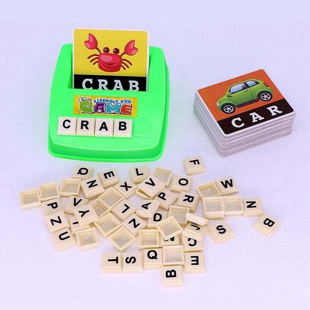 anak anak belajar bahasa inggris teka teki kata ejaan permainan gambar flash kartu awal