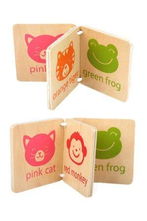 animals design kids wooden book as shown