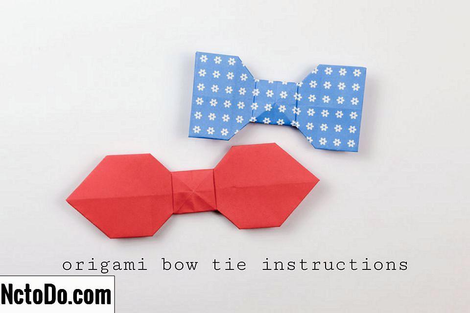 tutorial teka teki origami bow mudah