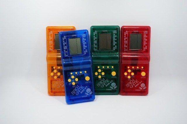 top jual terbaru childhood klasik bata game tetris hand held lcd permainan elektronik