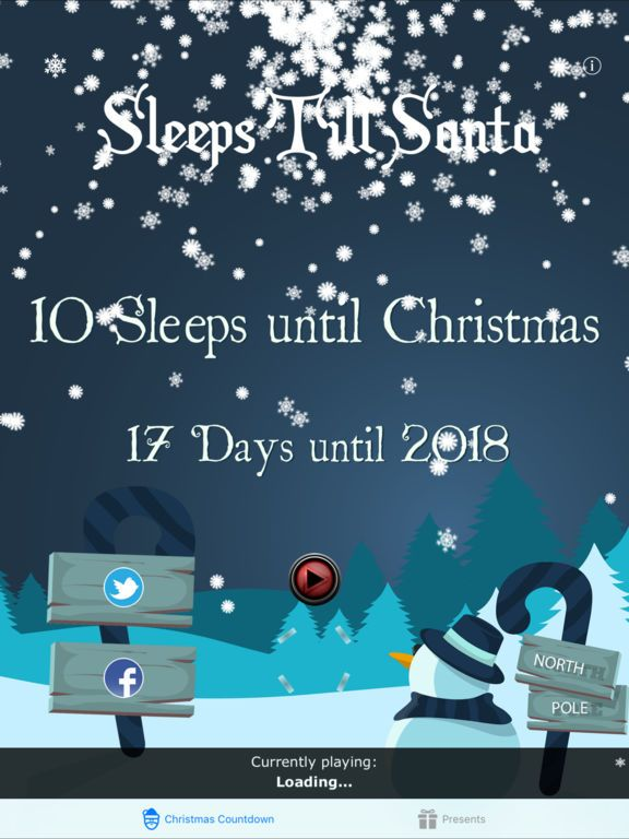 Countdown Poster Bermanfaat Sleeps untill Christmas App Price Drops