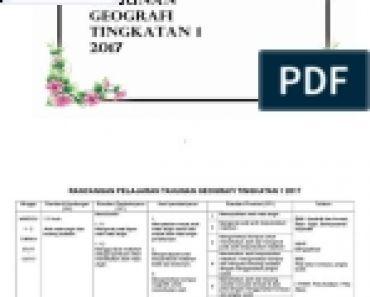 Download Rpt Geografi Tingkatan 3 Berguna Skop Kerja