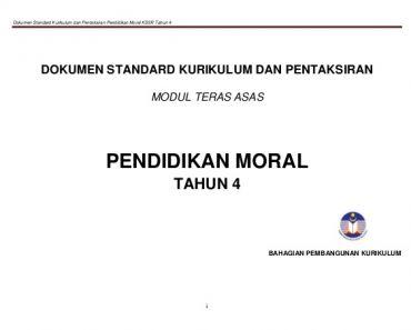 Download Rpt Pendidikan Moral Tahun 4 Hebat Rancangan Tahunan Moral Tahun 4 1