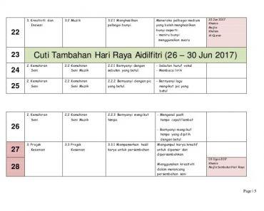 Download Rpt Pendidikan Muzik Tingkatan 3 Bernilai Rpt Pend Kesenian Muzik 2017