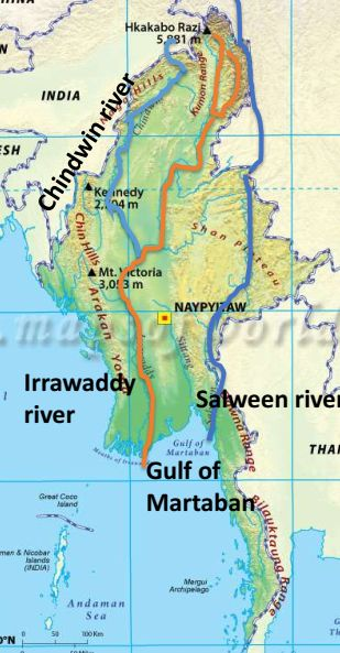salween river also passes through thailand which is part of asean