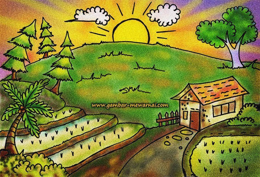 Lukisan Mewarna Pemandangan Bermanfaat Bisnis List Bisnislist On Pinterest