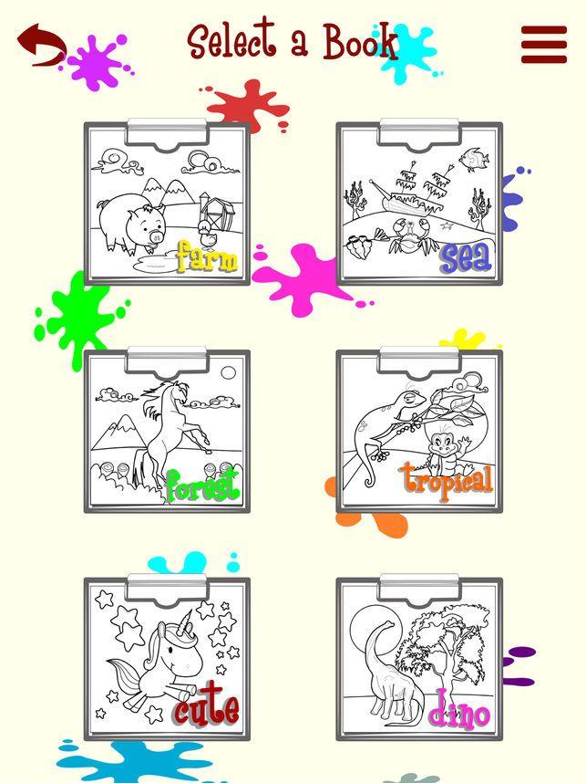 kid artist haiwan mewarnai dan lukisan di app store