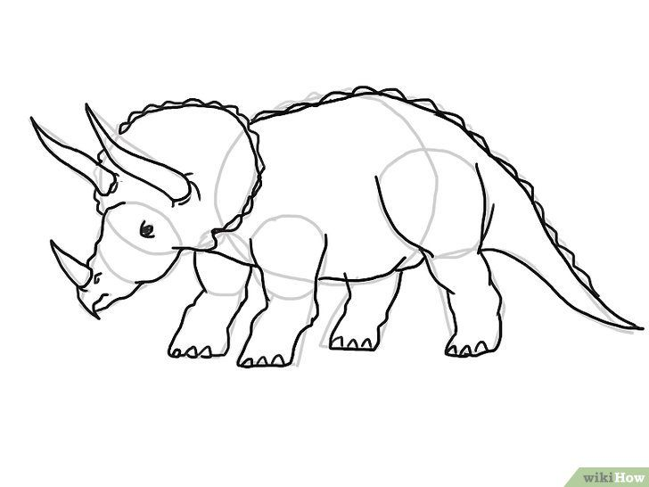 gambar berjudul draw dinosaurs step 20