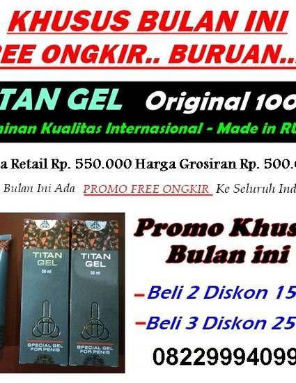 jual cream titan gel di jakarta barat wa 082299940990 antar gratis obat pembesar penis by ghiffary herbal