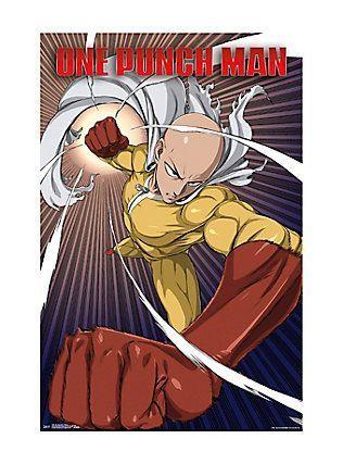 Poster Anime Terhebat One Punch Man Saitama Poster Wallscrolls and Posters Pinterest