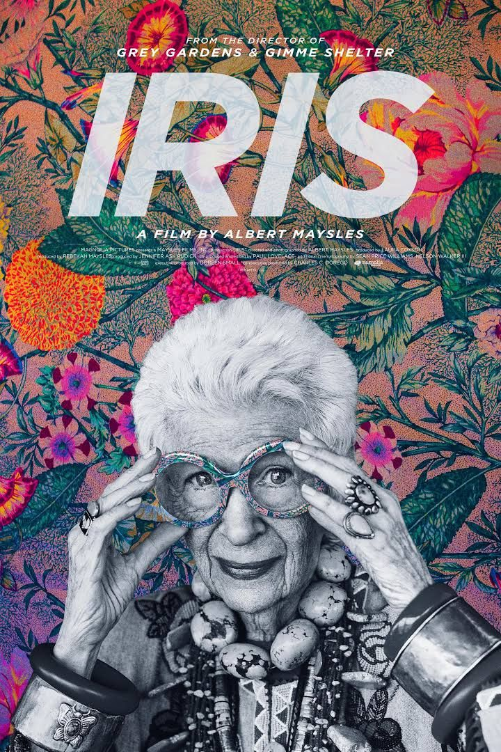 albert maysles documentary on the 93 year old fashion maven gets a stylish and colorful poster its subject would no doubt fawn over