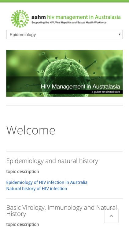 hiv management in australasia screenshot 0
