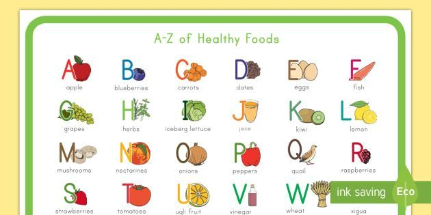 a z of healthy eating display poster healthy food healthy eating fruit display