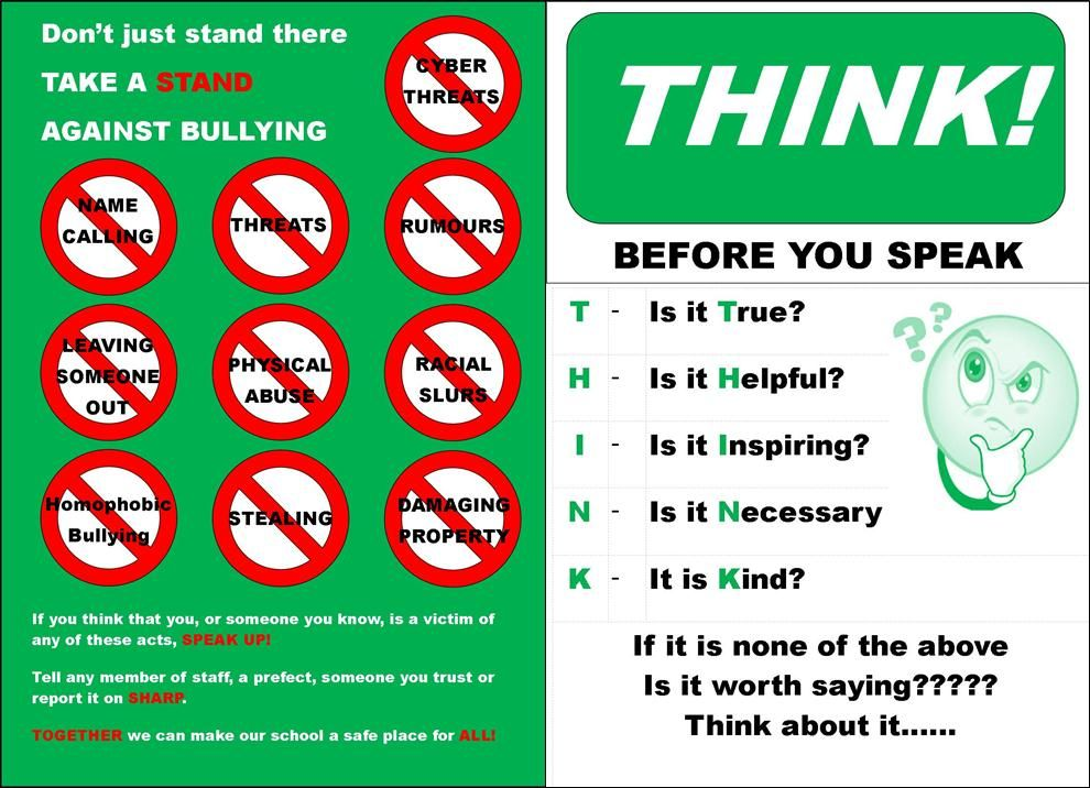 free stop bullying posters ideas for school