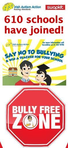 2 schools joined irish autism action anti bullying campaign www autismirelandphones ie