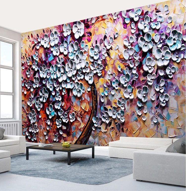 Saiz Kertas Lukisan A3 Baik Beibehang Besar Wallpaper Kustom Buatan Tangan Lukisan Abstrak