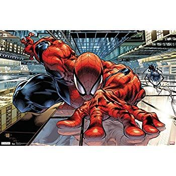trends international spider man wall crawler collector s edition wall poster 24 x 36