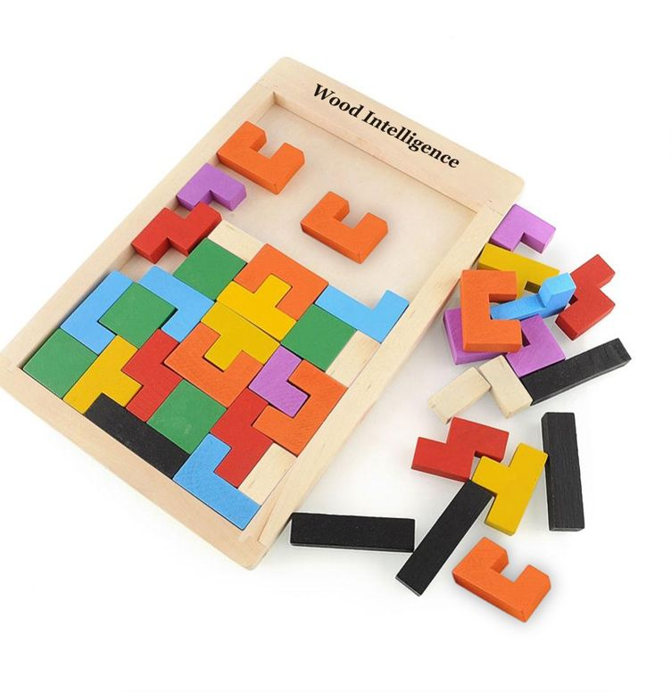 teka teki kayu mainan untuk anak anak tangram teka teki penggoda otak kayu tetris mainan anak anak permainan jigsaw babi hutan mainan teka teki pendidikan