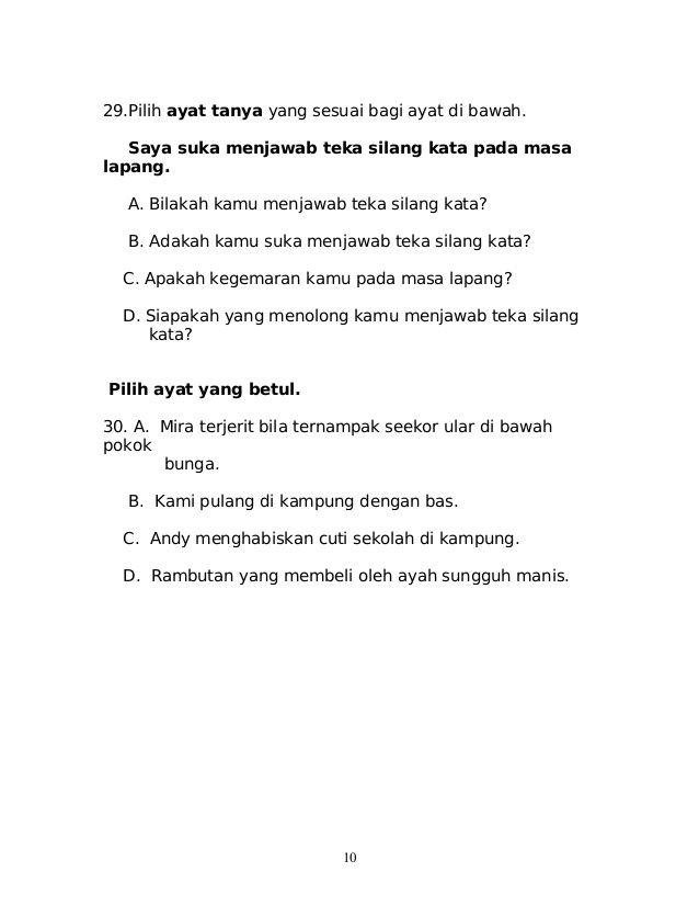 10 29 pilih ayat tanya
