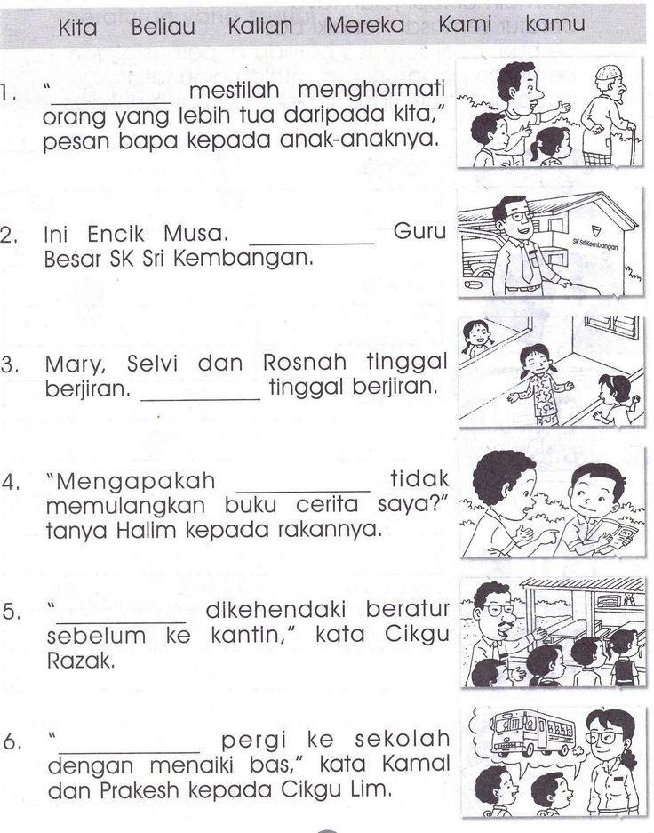 image result for malay karangan bergambar darjan satu tatabahasa tahun 6 pinterest education study materials and preschool activities
