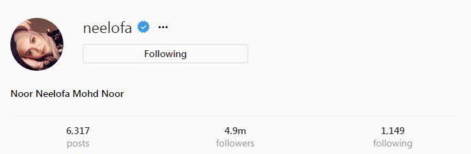 jumlah pengikut neelofa di ig seramai 4 9 juta berjaya mengatasi jumlah pengikut nora iaitu 4 8 juta pengikut