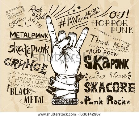hand draw sketch rock festival poster stock vector hd royalty free