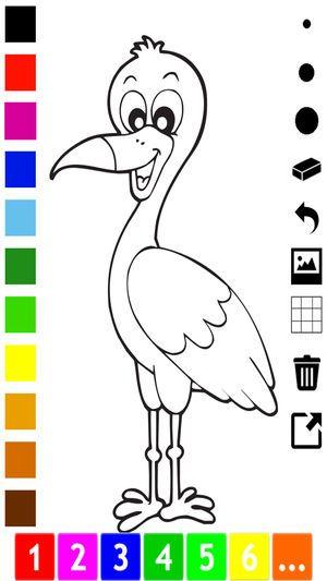 Belajar Mewarna Berguna Aktif Buku Mewarna Burung Untuk Kanak Kanak Untuk Belajar Bagaimana