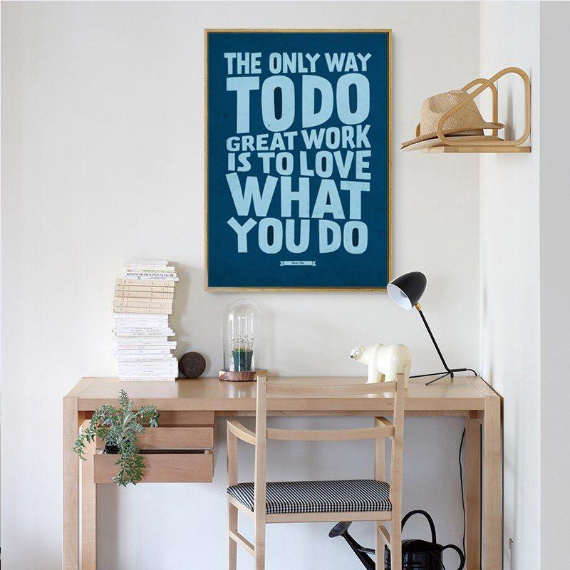 bahasa inggris sederhana frase motto kehidupan inspirational a4 lukisan kanvas seni cetak poster gambar lukisan dinding