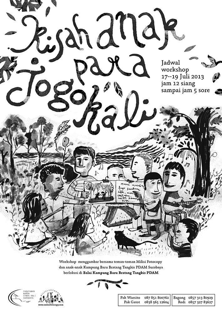 contoh poster niaga baik kisah anak para jogo kali ayorek