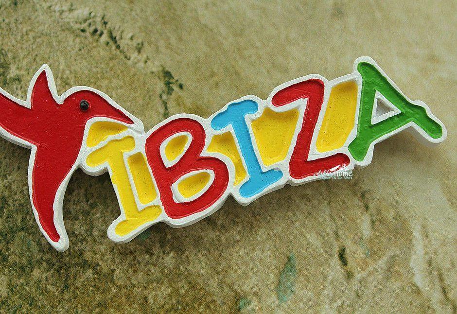 ibiza spanyol tourist souvenir travel surat 3d resin magnet kulkas kerajinan hadiah
