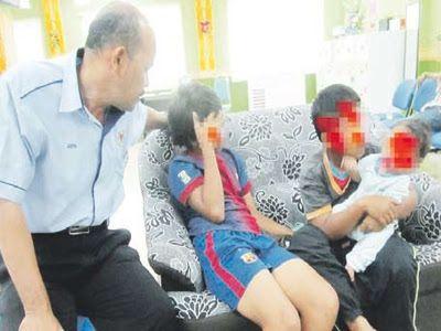 dua kanak kanak yang dipercayai menjadi mangsa masalah keluarga disoal siasat pegawai jkm dungun