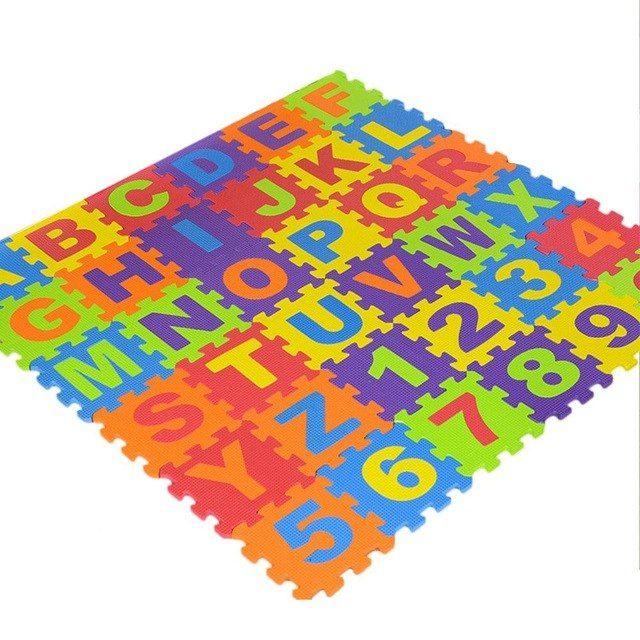36 pcs teka teki anak anak mat digital huruf pendidikan bantal busa tahan dingin